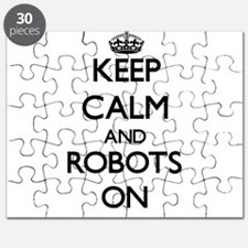 Keep calm and Robots ON Puzzle