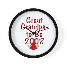 Great Grandpa-to-Be 2008 Wall Clock