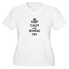 Keep calm and Sewing ON Plus Size T-Shirt