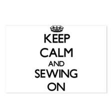 Keep calm and Sewing ON Postcards (Package of 8)