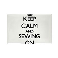 Keep calm and Sewing ON Magnets