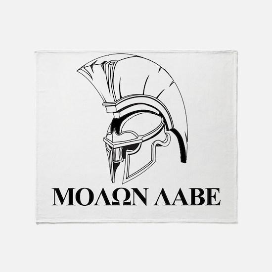 Spartan Greek Molon Labe Come and Take it Throw Bl