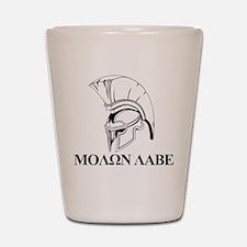 Spartan Greek Molon Labe Come and Take it Shot Gla