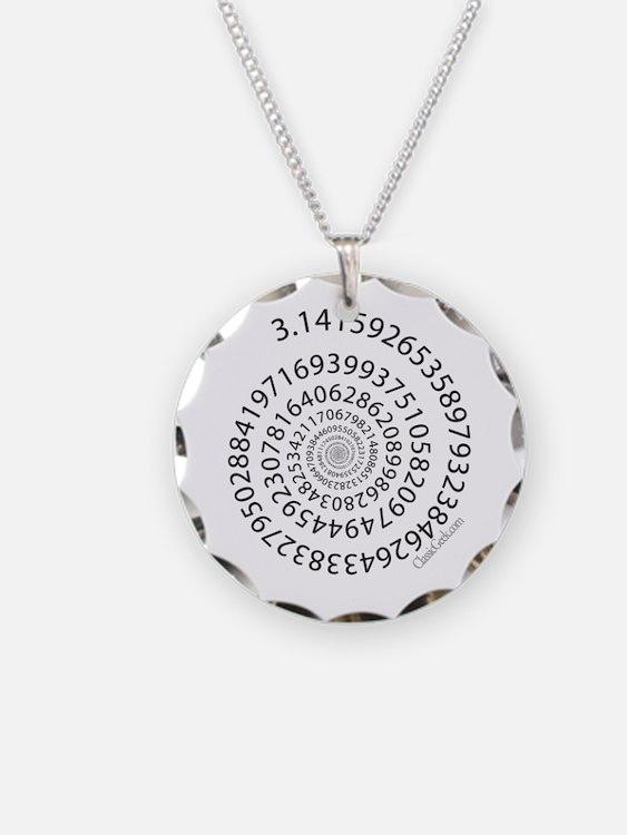 Spiral Pi Necklace