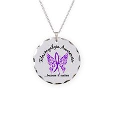 Fibromyalgia Butterfly 6.1 Necklace