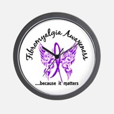 Fibromyalgia Butterfly 6.1 Wall Clock
