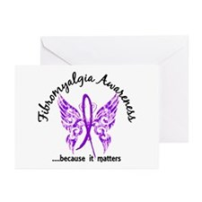 Fibromyalgia Butterfly 6 Greeting Cards (Pk of 20)