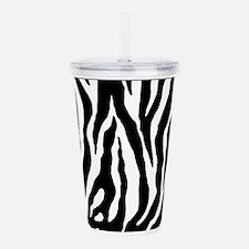 Zebra stripes, black Acrylic Double-wall Tumbler