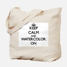 Keep calm and Watercolor ON Tote Bag
