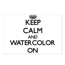 Keep calm and Watercolor Postcards (Package of 8)