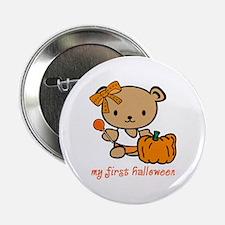 My First Halloween (Girl) Button