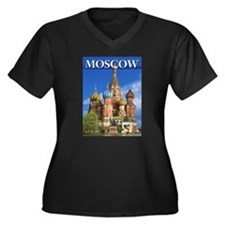Moscow Kremlin Saint Basil's Cat Plus Size T-Shirt