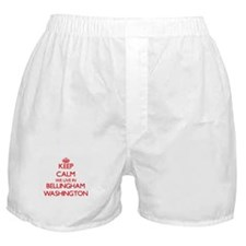 Keep calm we live in Bellingham Washi Boxer Shorts