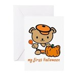 My First Halloween (Boy) Greeting Cards (Package o