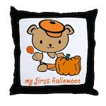 My First Halloween (Boy) Throw Pillow
