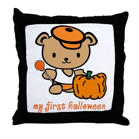 My First Halloween (Boy) Throw Pillow