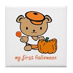 My First Halloween (Boy) Tile Coaster