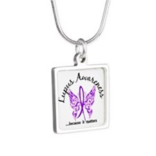 Lupus Butterfly 6.1 Silver Square Necklace