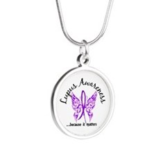 Lupus Butterfly 6.1 Silver Round Necklace