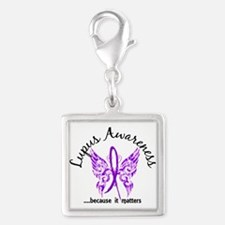 Lupus Butterfly 6.1 Silver Square Charm