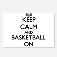 Keep calm and Basketball Postcards (Package of 8)
