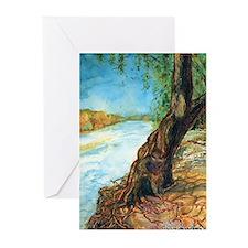 Cedar River Tree Greeting Cards