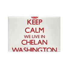 Keep calm we live in Chelan Washington Magnets