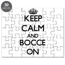 Keep calm and Bocce ON Puzzle