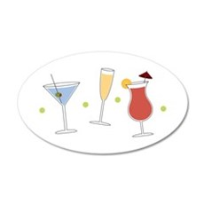 Cocktail Party Wall Decal