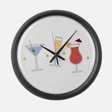 Cocktail Party Large Wall Clock