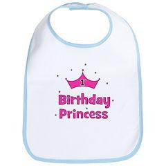 1st Birthday Princess! Bib