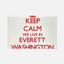 Keep calm we live in Everett Washington Magnets