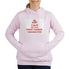 Keep calm we live in Fri Women's Hooded Sweatshirt
