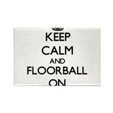 Keep calm and Floorball ON Magnets
