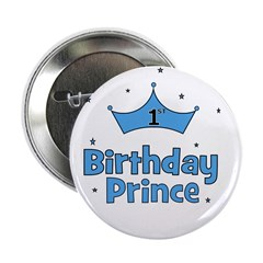 1st Birthday Prince! Button