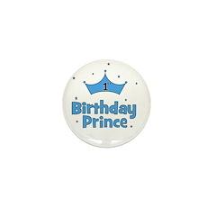 1st Birthday Prince! Mini Button