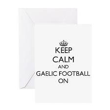 Keep calm and Gaelic Football ON Greeting Cards