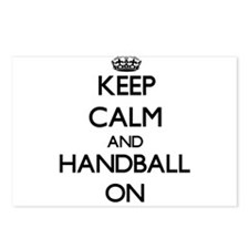 Keep calm and Handball ON Postcards (Package of 8)