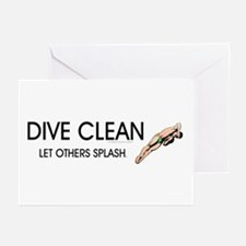 Dive Clean Greeting Cards (Pk of 10)