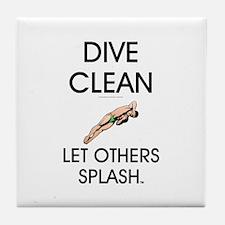 Dive Clean Tile Coaster