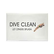 Dive Clean Rectangle Magnet