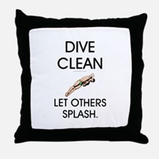 Dive Clean Throw Pillow