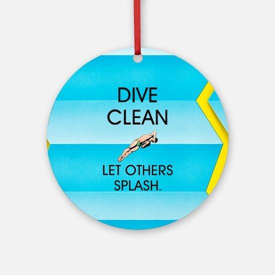 Dive Clean Round Ornament