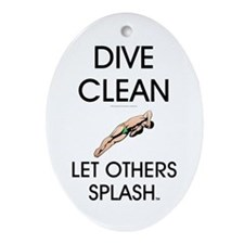 Dive Clean Ornament (Oval)