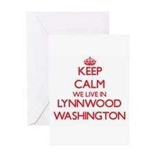 Keep calm we live in Lynnwood Washi Greeting Cards