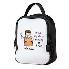 WINE.... Neoprene Lunch Bag