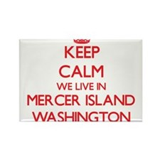 Keep calm we live in Mercer Island Washing Magnets
