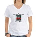 WSGP Saves Lives Women's V-Neck T-Shirt