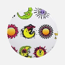 Sun Moon Stars Ornament (Round)