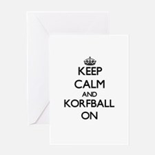 Keep calm and Korfball ON Greeting Cards